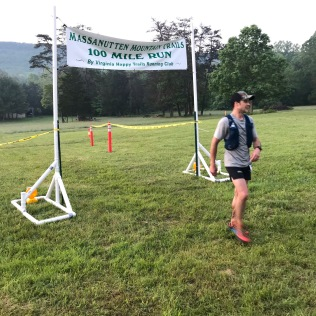 Randy Elliott- Massanutten 100 Mile. First 100 miler- 26 hours, 15th place.